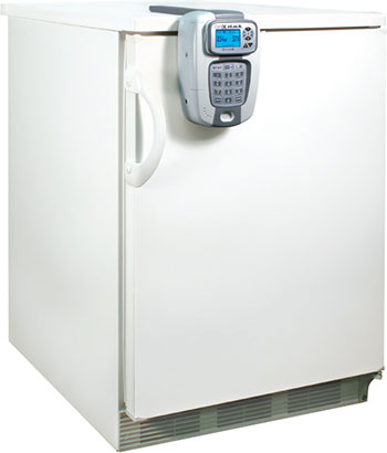 CompX eLock 300 Series installed on a refrigerator